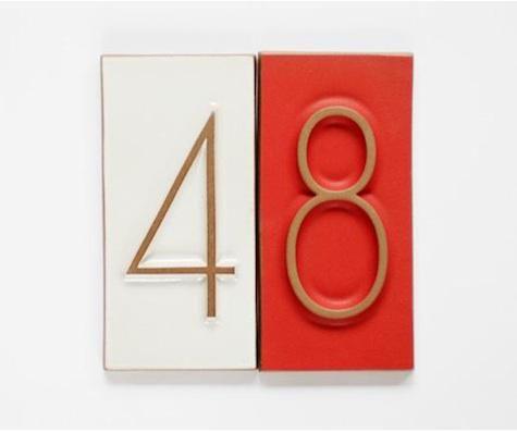 Heath Ceramics house numbers.