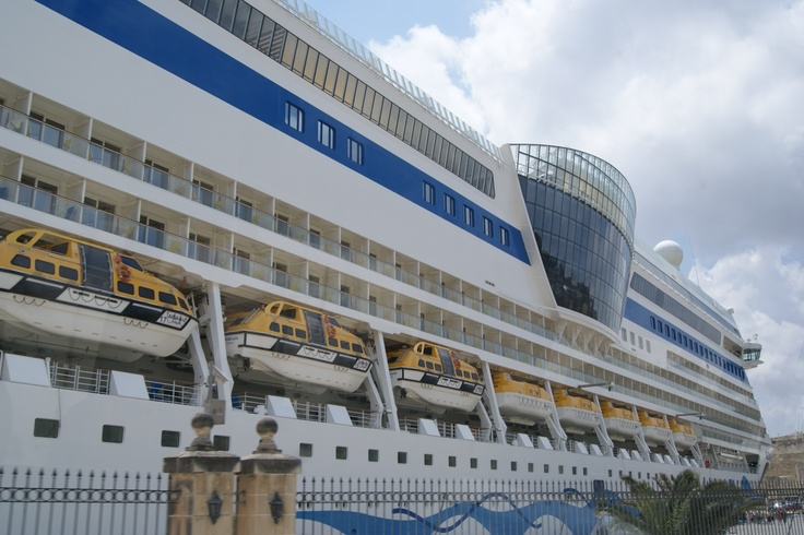 #Transport - #Ships:  Cruise Ship, moored in the Grand Harbour, #Valletta, #Malta.    Photo: D Rudman