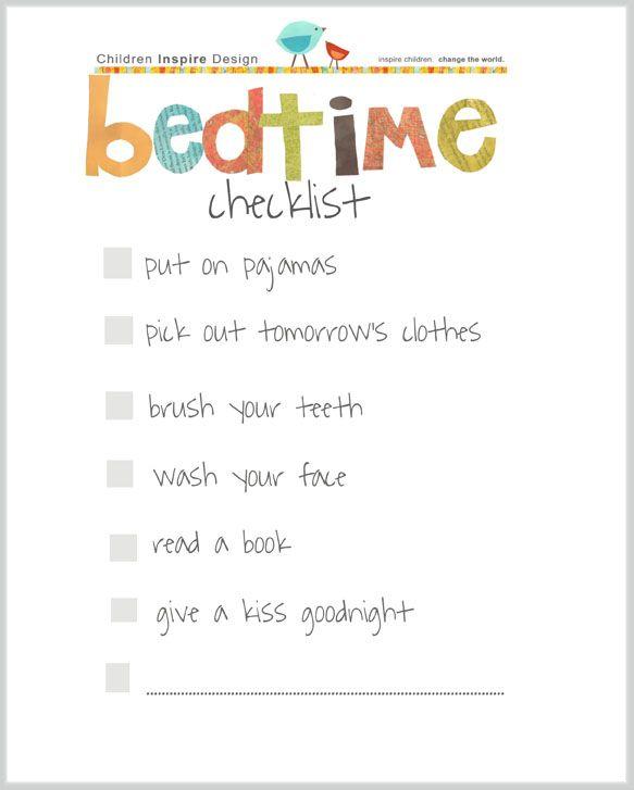 Bedtime Checklist