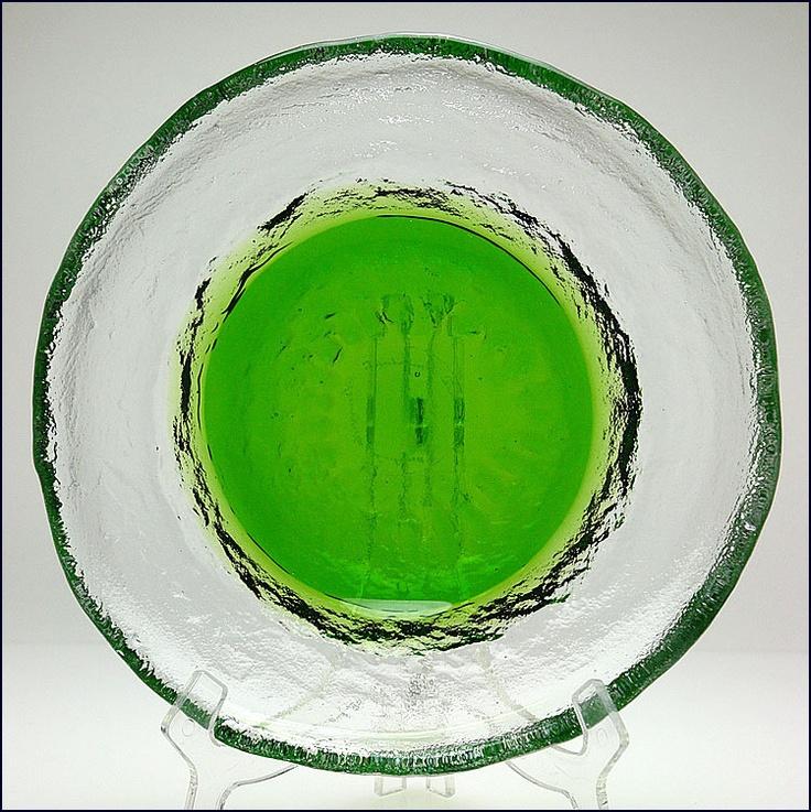 Pertti Santalahti Humppila Finland Art Glass Dish