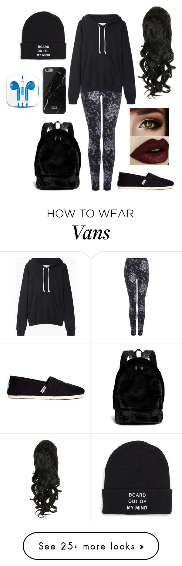 """Untitled #615"" by cutiepie92343 on Polyvore featuring Dex, La Garçonne Moderne, TOMS, Vans, Alexander Wang, PhunkeeTree and Native Union"