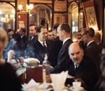 The Punch Tavern, Fleet Street, a classic journalists' pub, 1969