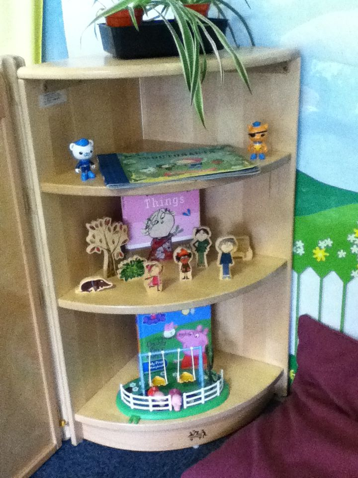 Communication Friendly Space (CFS) Using the children's favourite TV characters as prompts to talk in a small, comfortable space.