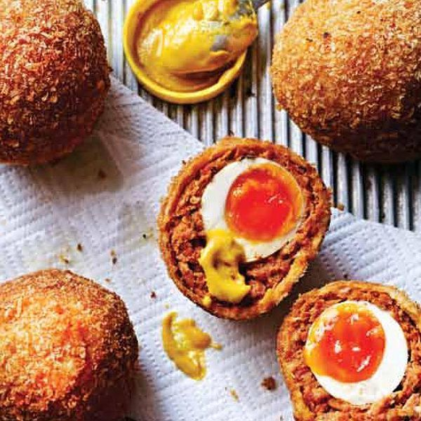 An easy to follow chorizo scotch egg recipe from Dean Edwards. These awesome homemade scotch eggs combine smoky chorizo and pork with fresh thyme leaves.