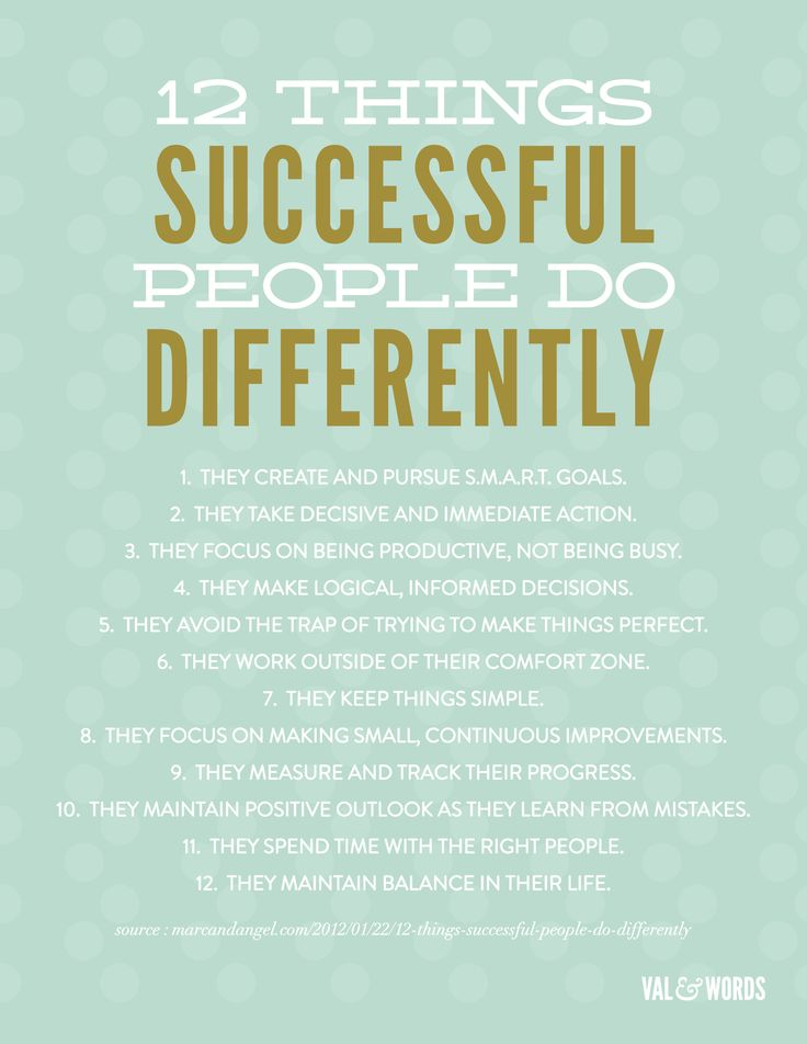12 Things Successful People Do Differently Words of Wisdom to Live By