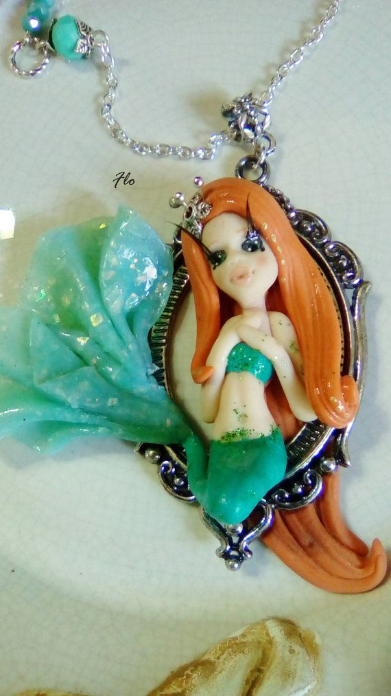 Guarda questo articolo nel mio negozio Etsy https://www.etsy.com/it/listing/295066823/ariel #ariel #mermaid #sirenetta #water #acqua #summer #estate #sea #polymerclay