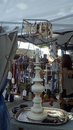 Saw this for diplaying jewelry at a festival, had to take a photo....totally want to do one for my vintage necklaces!