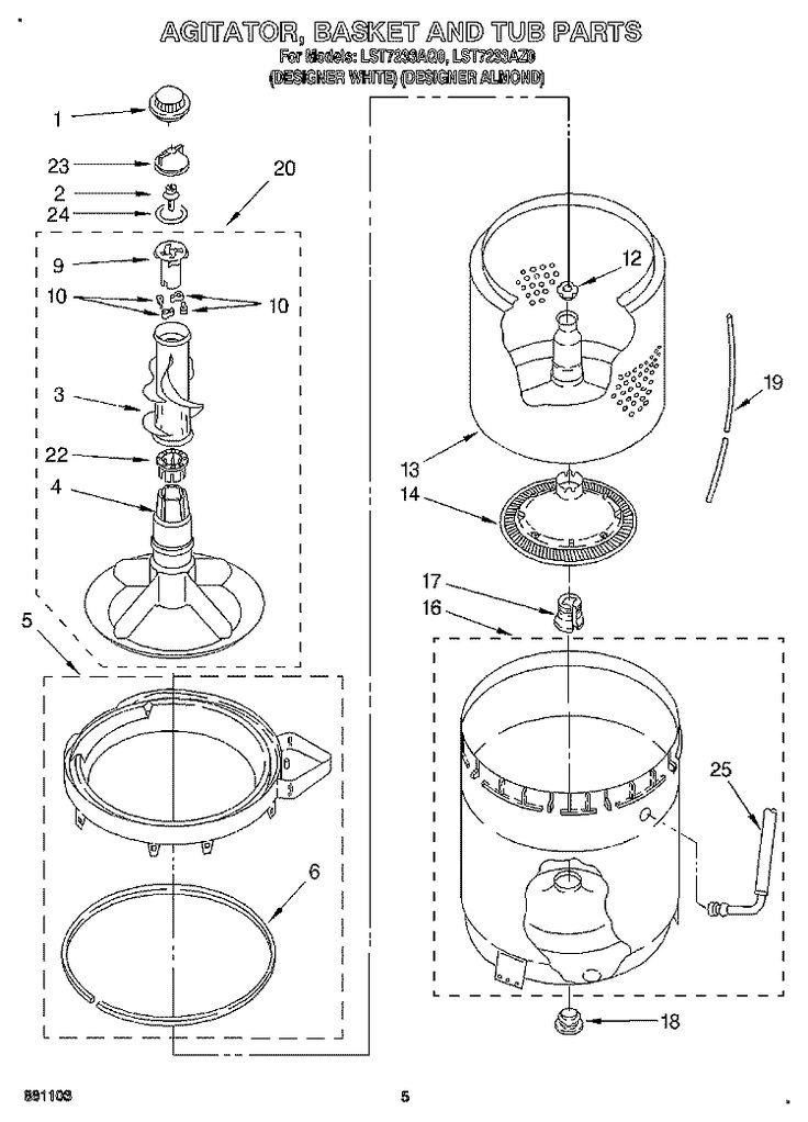 Whirlpool Washer Lst7233aq0 Parts List