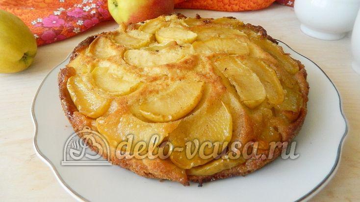 Пирог-перевертыш с яблоками #пироги #яблока #яблочныйпирог #сладкаявыпечка #рецепты #деловкуса #готовимсделовкуса