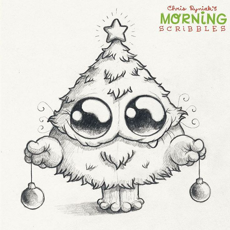"""I'm a Christmas tree!"" #morningscribbles #christmas2015 ❄️"
