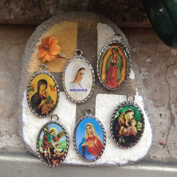 Set of 6 PCS Different Two sided Medal by CatholicHosannaGifts,