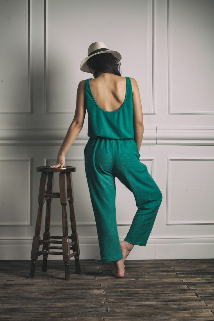 """Jamaica"" jumpsuit in green Spring/Summer 2014 #karavanclothing"