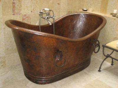 tina para baño cobre