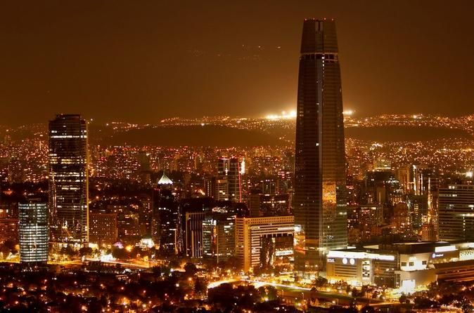 Private Night City Tour with San Cristobal Hill And Dinner Show Explore Santiago on this 4-hour tour before enjoying dinner and a cultural dance show. See the beautiful sites of the city from the top of San Cristobal Hill. See La Moneda Palace, Plaza de la Constitucion, the municipal theater and the central market.After pickup from your hotel in the districts of Providencia, Las Condes, Vitacura, Santiago Centro or a agreed upon meeting point in those districts, drive to the t...