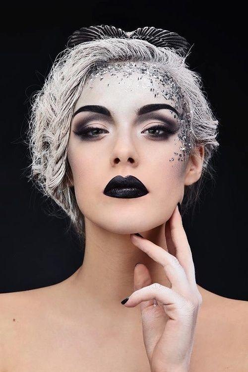 High fashion gothic makeup art #halloween #ideas