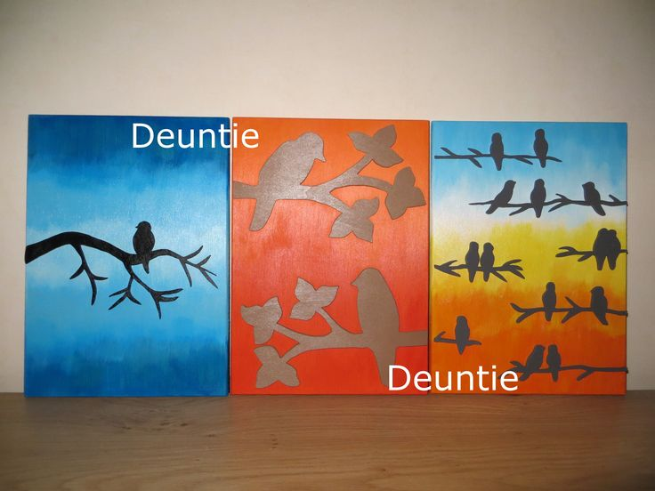 Birds on wood wall decoration from Deuntie