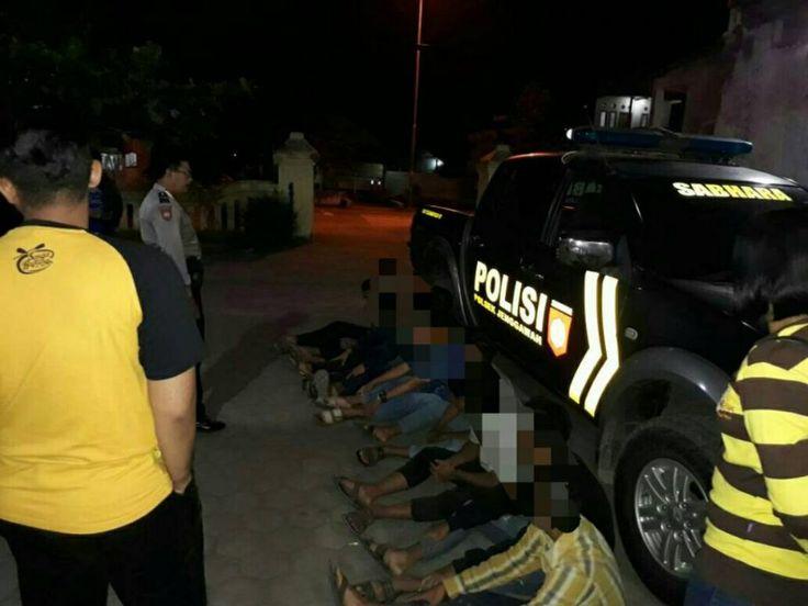 Polisi Amankan Sembilan Pemuda Mabuk Miras