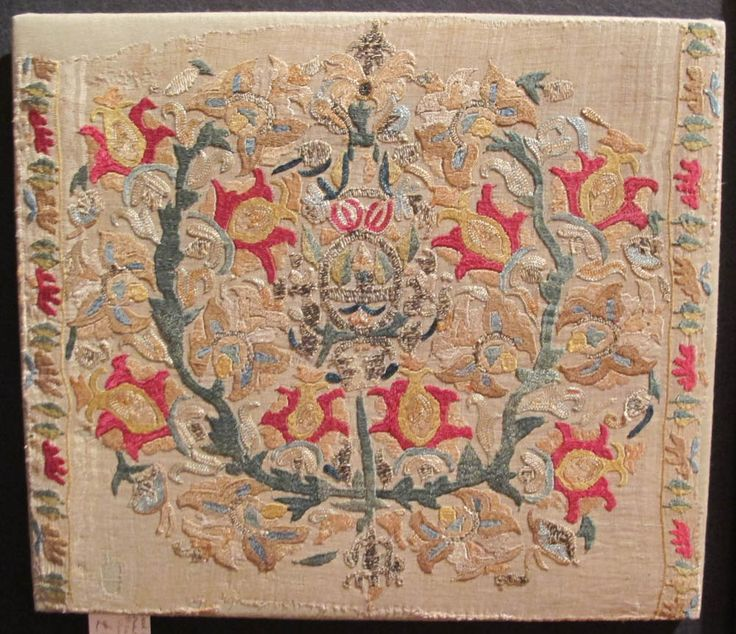 ottoman embroidery | Legge, Greek Island (Ottoman provincial) embroidery fragment