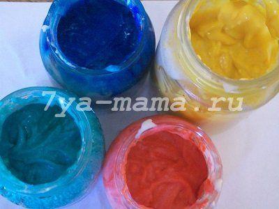 пальчиковые краски в домашних условиях