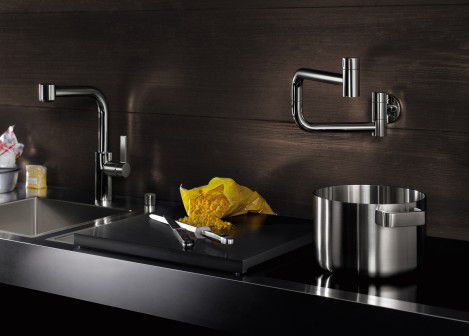 dornbracht tara ultra wall mounted tubfiller Modern Pot Filler   new wall mounted Ultra by Dornbracht