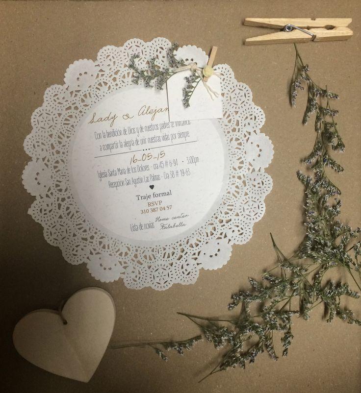 Invitaciones para matrimonio