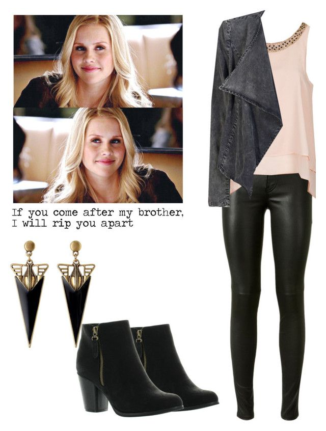 """""""Rebekah Mikaelson - the originals / the vampire diaries / tvd"""" by shadyannon ❤ liked on Polyvore featuring мода, Yves Saint Laurent, Reneeze, Topshop и ONLY"""