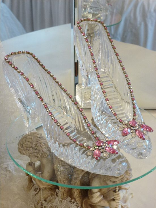 Antique Glass Slippers