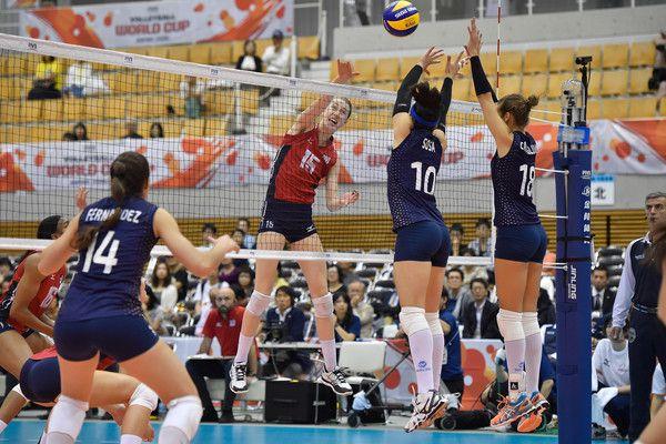 Kimberly Hill Photos - Argentina v USA - FIVB Women's Volleyball ...