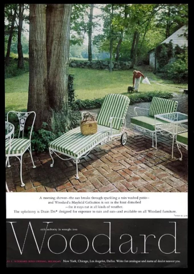 Vintage Patio Furniture, Lawn Furniture, Wrought Iron, Vintage Ads, Deck  Patio, Sunrooms, Outdoor Spaces, Outdoor Living, Mid Century