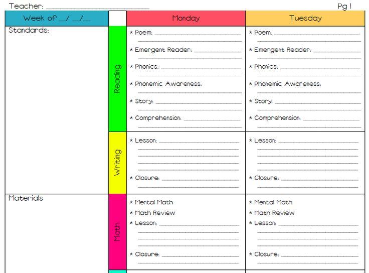 Elementary Lesson Plan Template Lesson Plan Template Freebie From - art lesson plans template