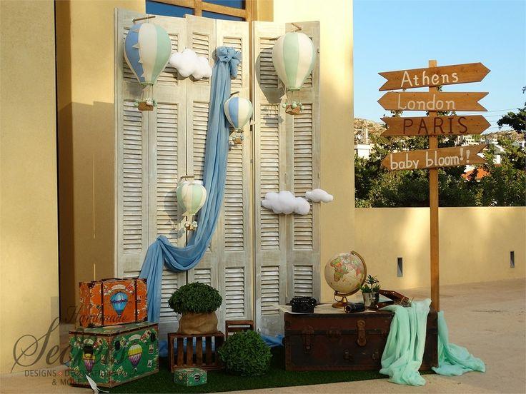 Στολισμός βάπτισης αερόστατα