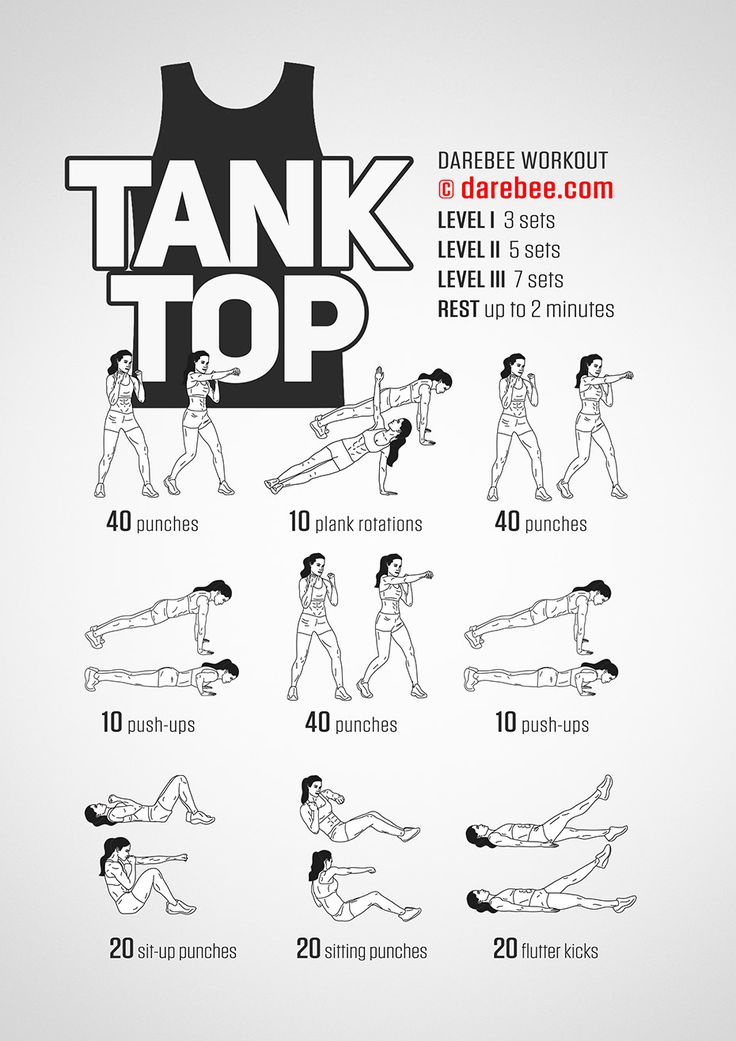 Tank Top Workout - Concentration - Upper Body - Difficulty 3 - Suitable for Beginners