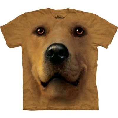 Golden Retriever Labrador Big Face Mountain T Shirt - yourgifthouse