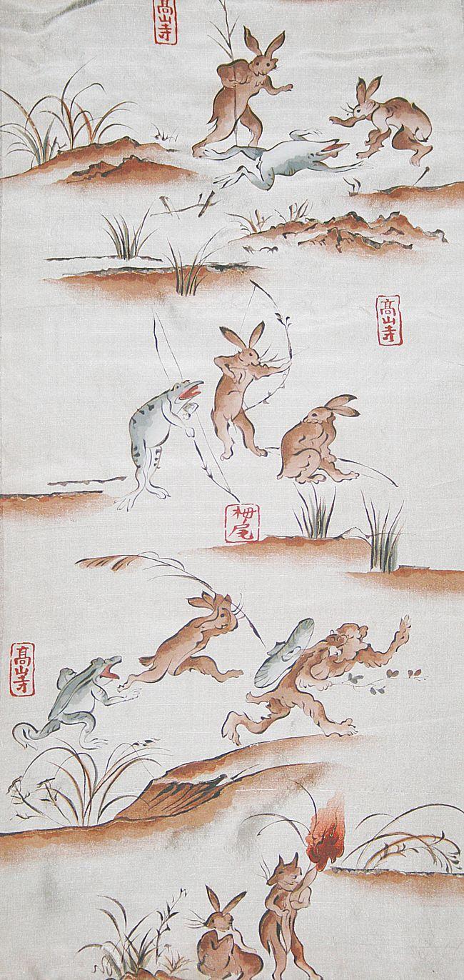 鳥獣戯画 Chōjū-jinbutsu-giga Japanese traditional design