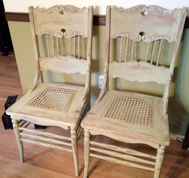 Antique Pressed Back Oak Chairs - Matching Pair - 98 Best Vintage Hip Décor ~ Creatively Renewed Furniture Images On