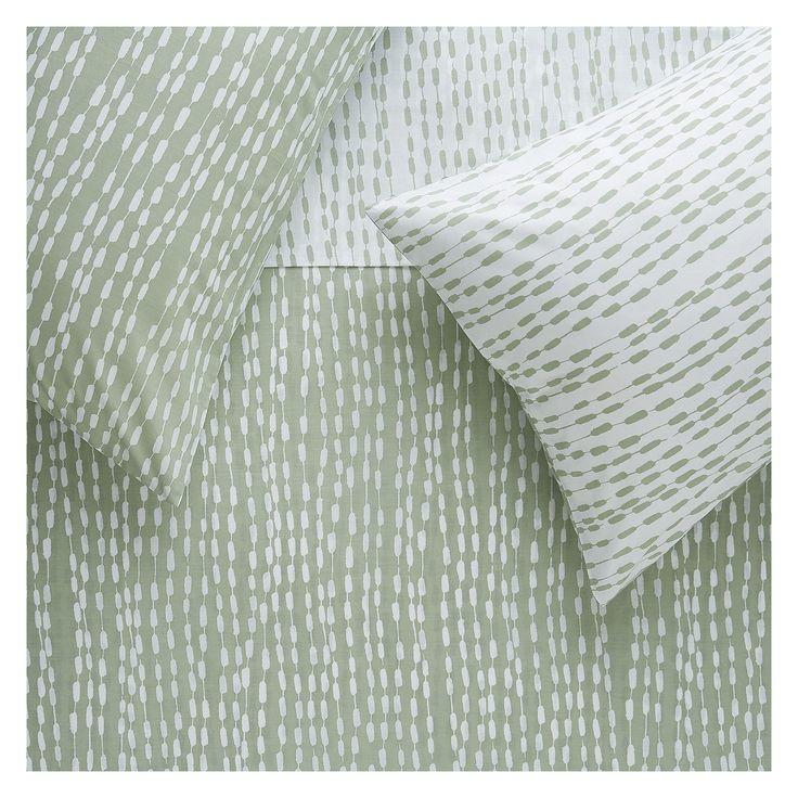 TRENE Sage patterned double duvet cover set