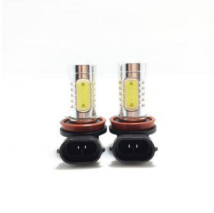 2X xenon white 7.5W 12V h8 led bulb white color h11 led fog lamp bulb car parking styling accessories kits led driving lighting