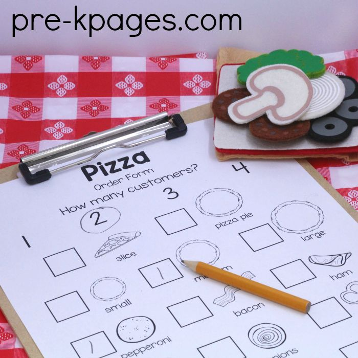 Play Pizza Order Form
