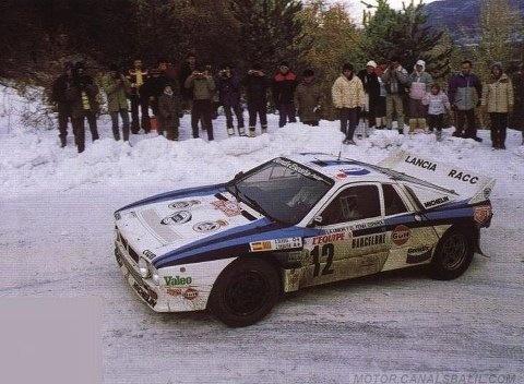 ra salvador servi jordi sabater 54 rallye de monte carlo 1986 lancia rally 037 clasificado. Black Bedroom Furniture Sets. Home Design Ideas