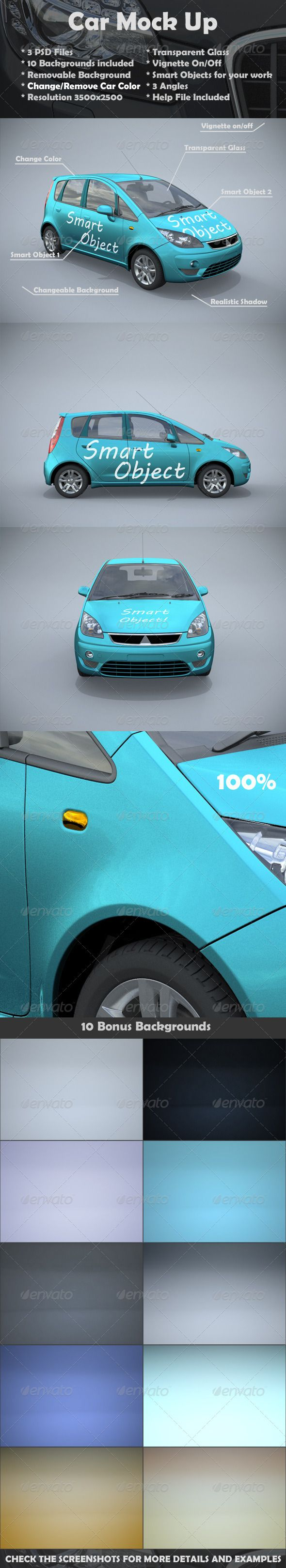 Background image email support - Car Mock Up 3 Psd Files Removable Backgrounds Change Remove Car Color Realistic Shadows