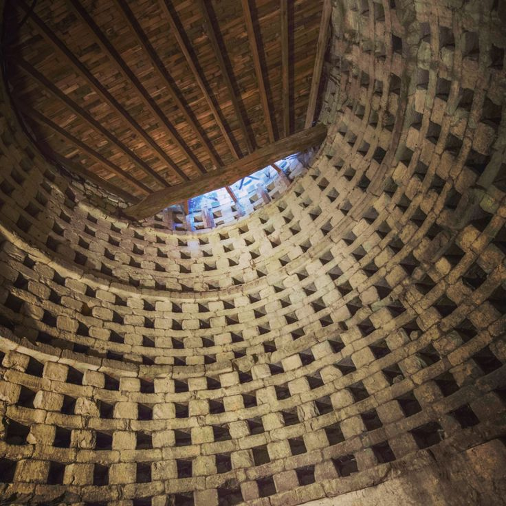 The underground pigeon tower at La Grande Maison Loire near Saumur