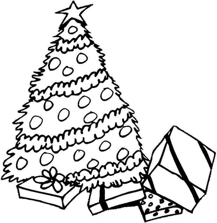 Christmas Tree Printable Coloring Pages Az