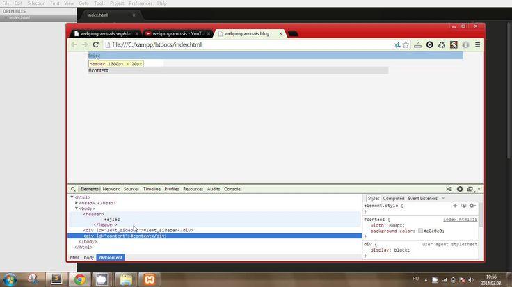 A blogunk HTML+CSS váza (webprogramozás 18. rész)