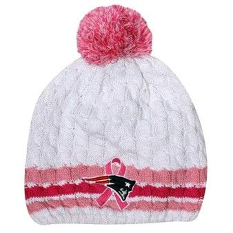 Ladies BCA Knit Hat-White Pink. Perfect to keep you warm during these  October games!  e27dc1dfb1ba