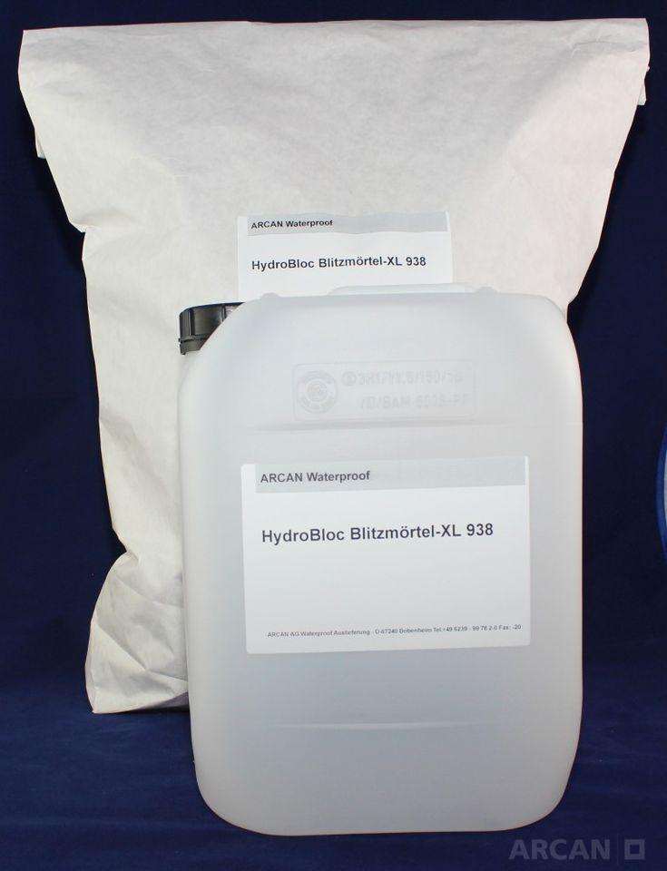 HydroBloc – Montagemörtel XL-938 – zur Befestigung und Abdichtung (2,01 kg) » Montagemörtel mit hoher Festigkeit zum Abdichten, Ausbessern und B ...