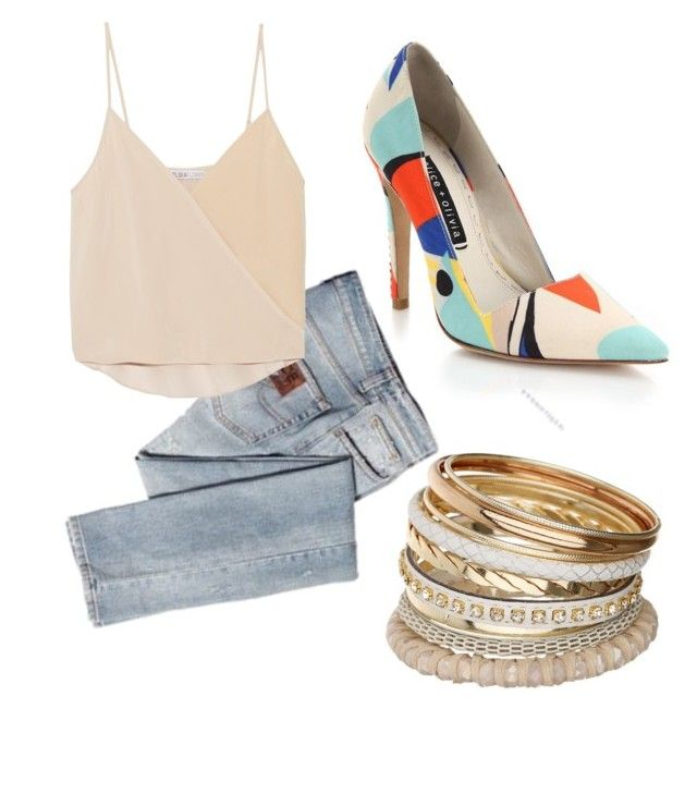 summer/spring casual by tayken3 on Polyvore featuring polyvore fashion style Chelsea Flower ICE ICEBERG Alice + Olivia Miss Selfridge clothing