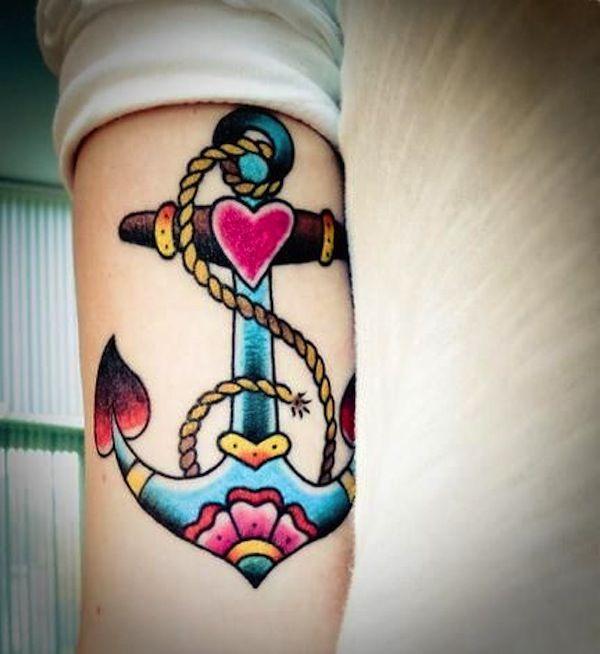 Tattoo old school ancre marine…