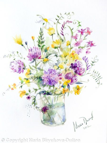 Bouquet+1+-+Watercolours+on+paper