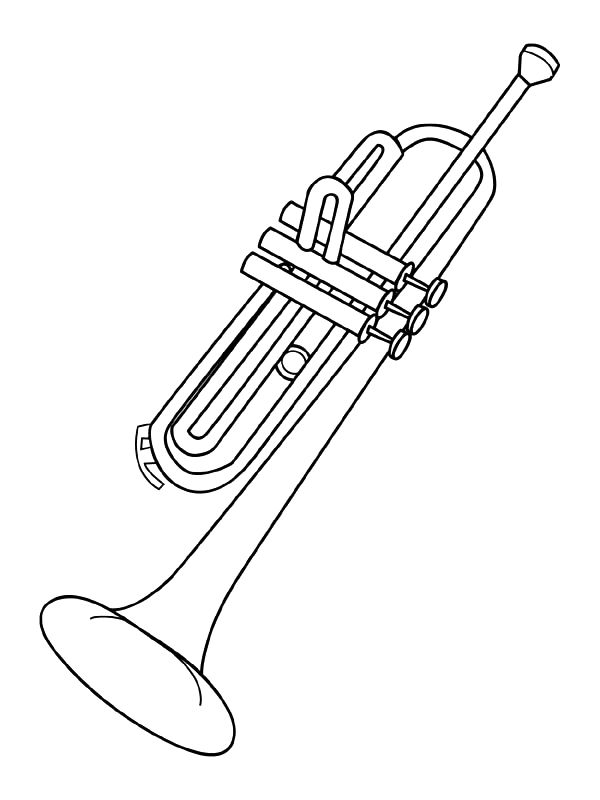 It is a picture of Crazy Musical Instruments Coloring Pages