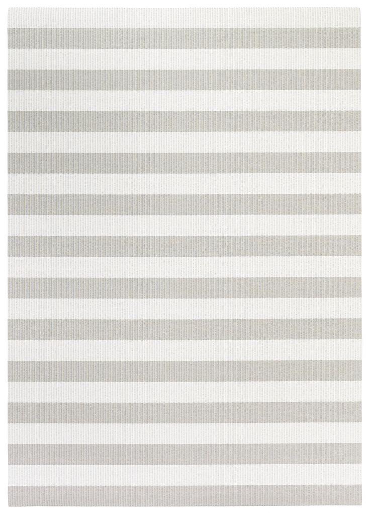 Woodnotes Big Stripe paper yarn carpet col. stone-white. Stripe width 10 cm.  Natural fibres. Fresh. Finnish design.